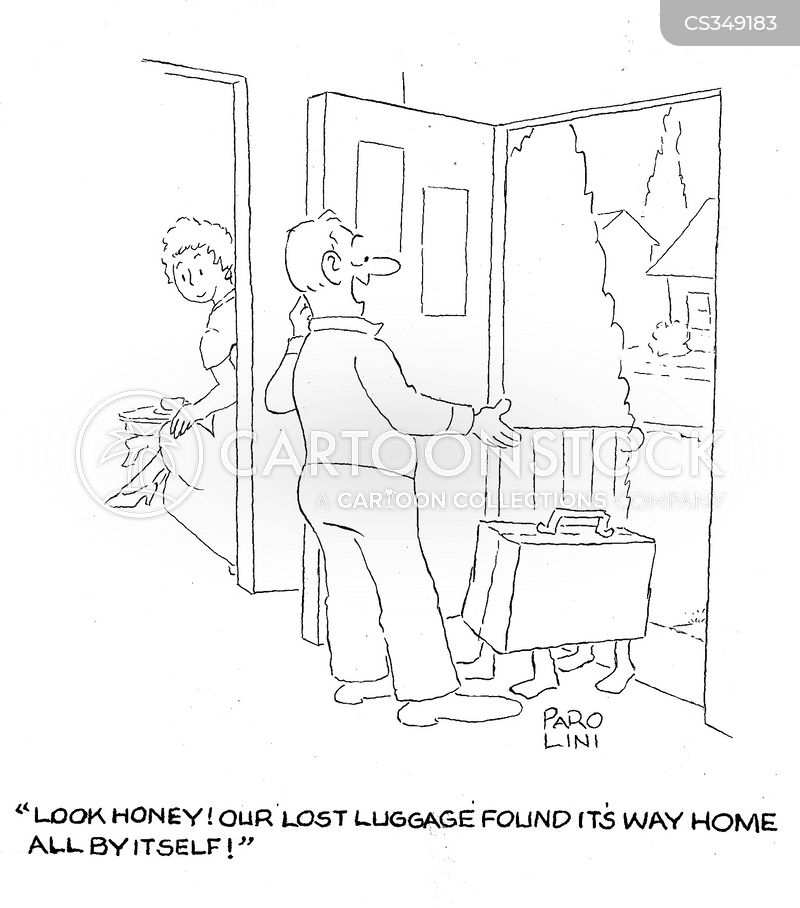 lost suitcases cartoon