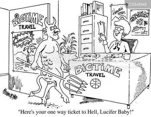 one-way ticket cartoon