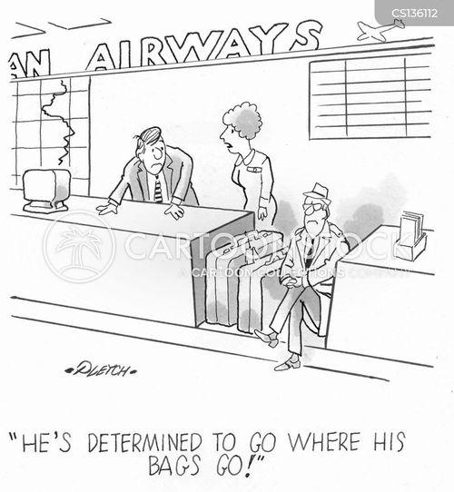 baggage handling cartoon