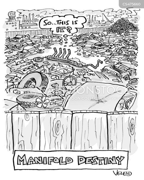 junkyard cartoon