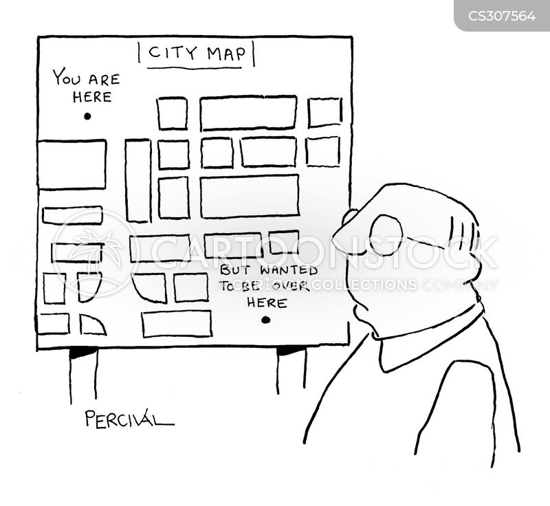 map reading cartoon