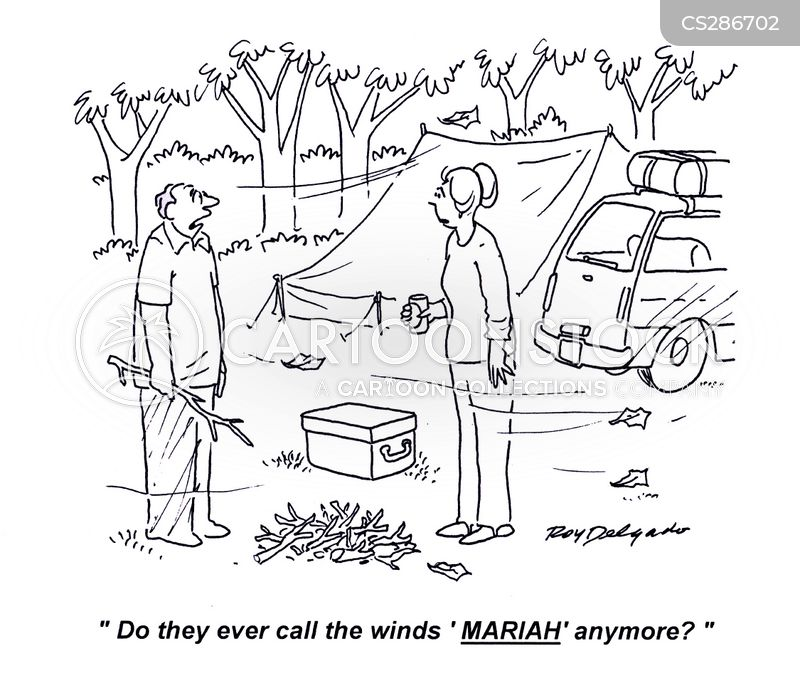 camping holiday cartoon