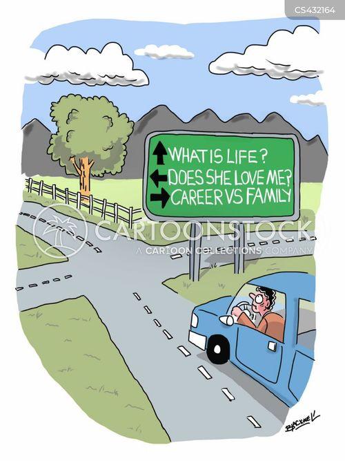 intersections cartoon