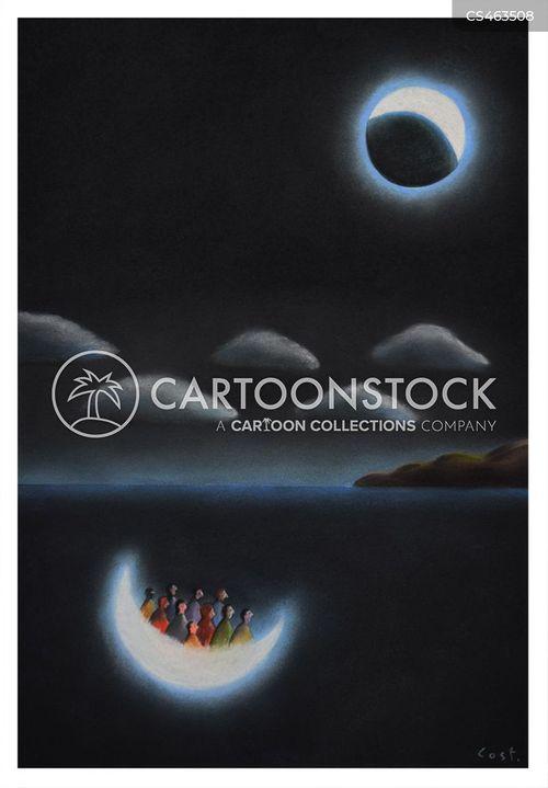 eclipses cartoon