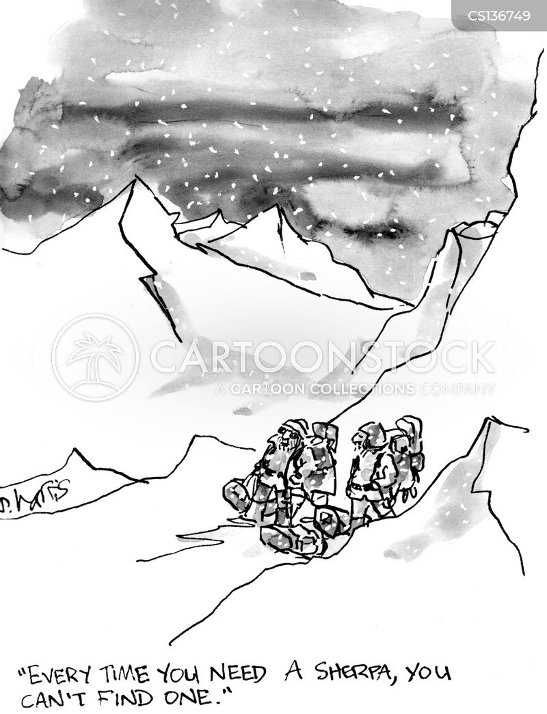 mountaineers cartoon