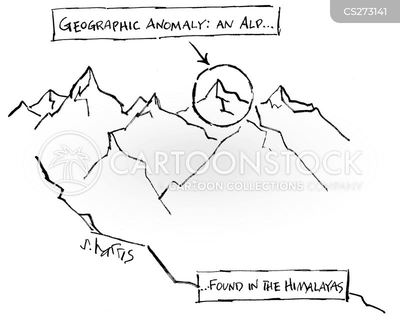 mountain range cartoon