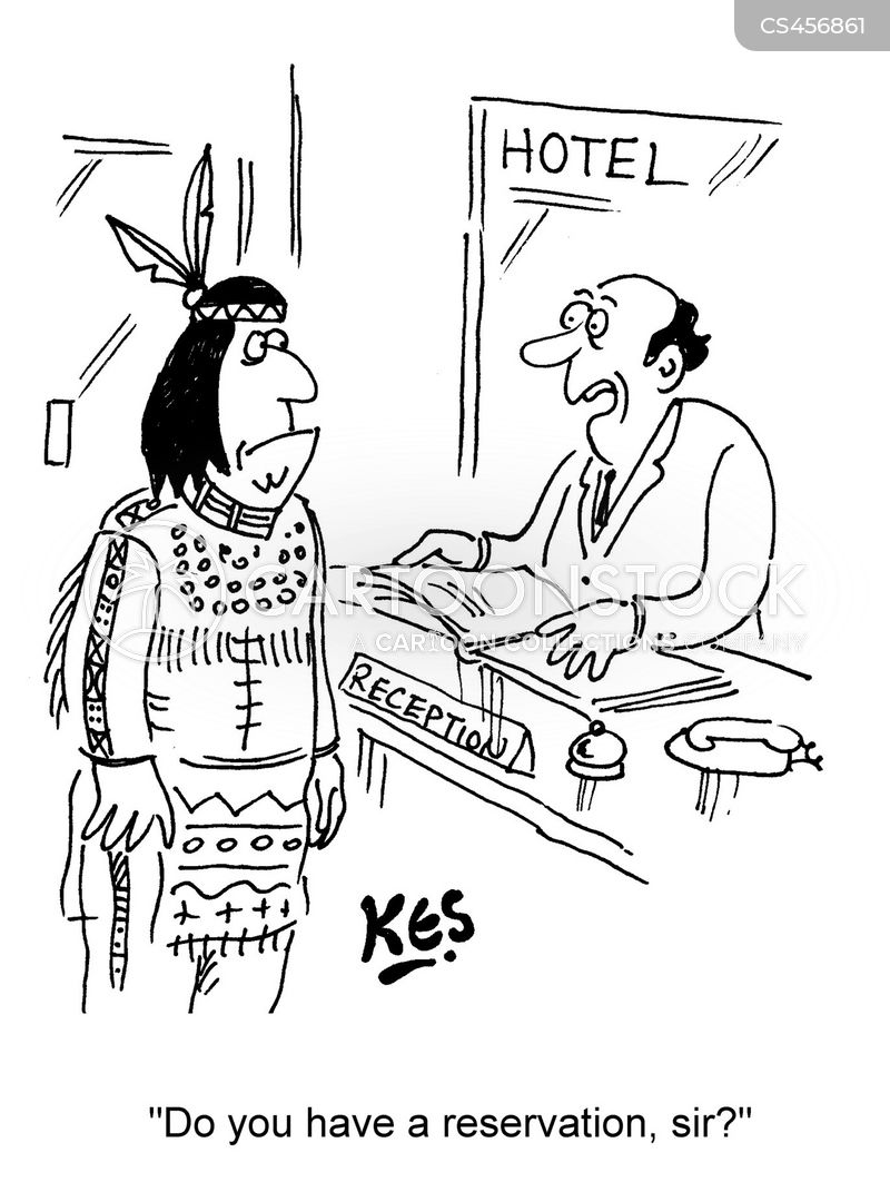 hotel booking cartoon