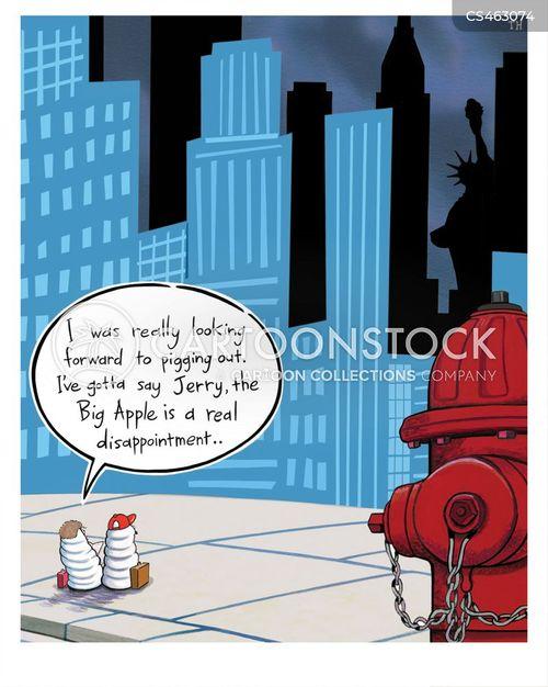 big apple cartoon