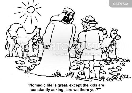 nomadic cartoon