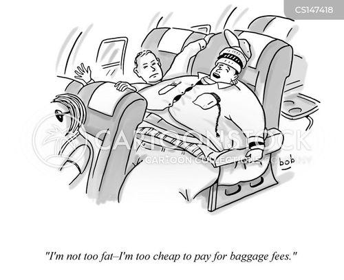baggage fee cartoon