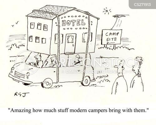 camping holidays cartoon