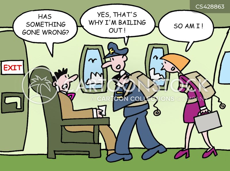 emergency exit cartoon