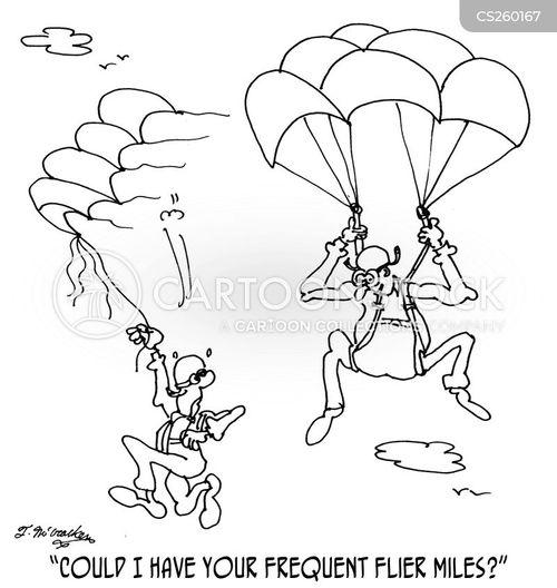 frequent flier miles cartoon