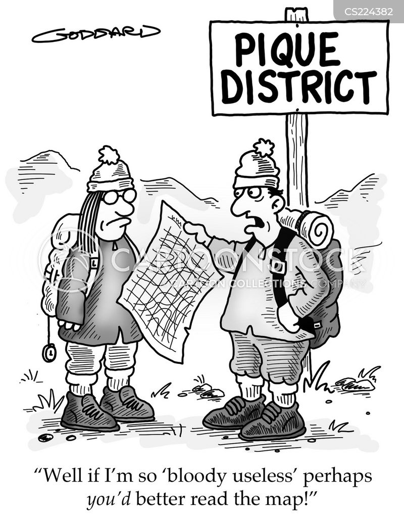 map reader cartoon
