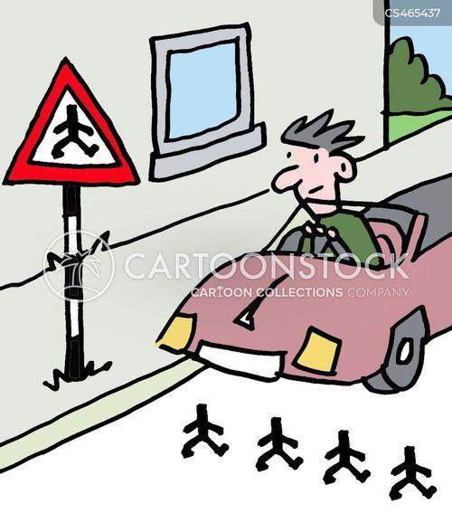 street crossing cartoon