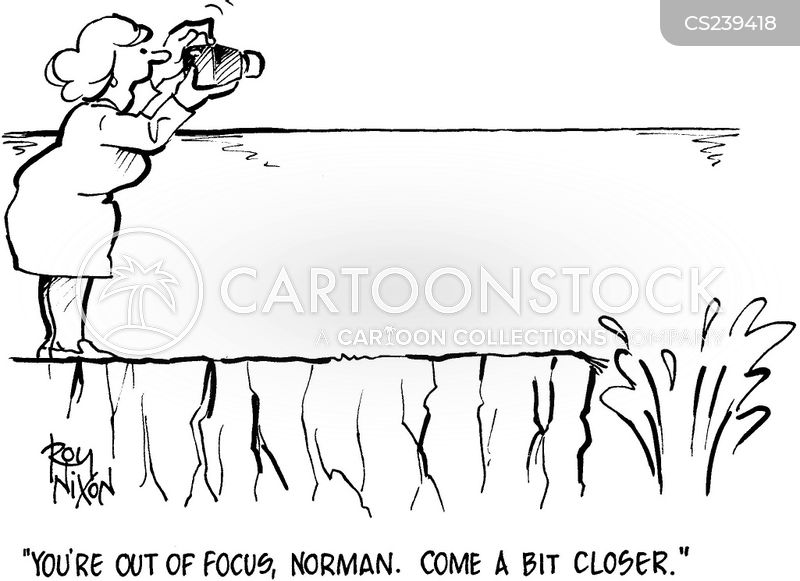 out of focus cartoon