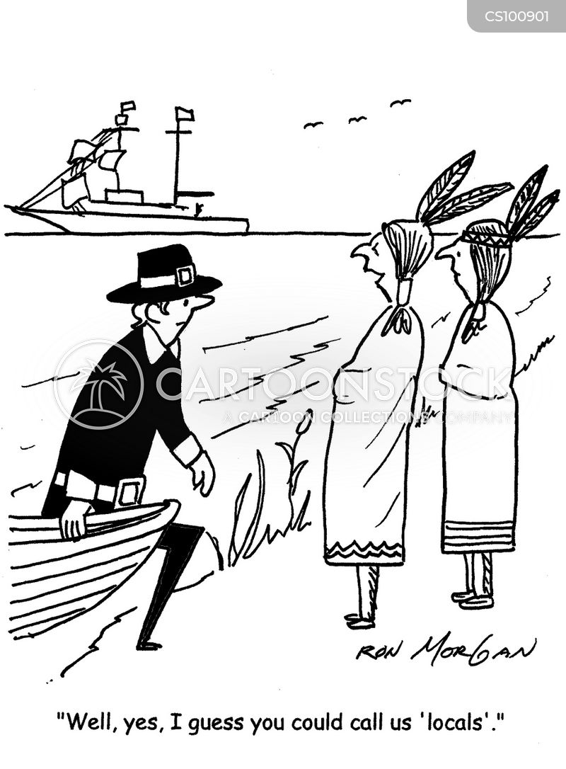 colonization cartoon