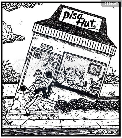 pizza restaurants cartoon
