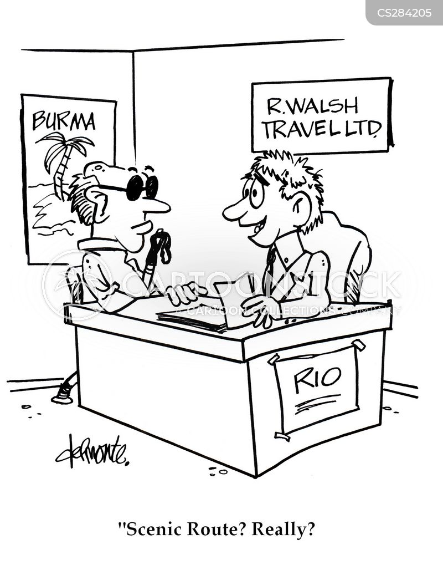 scenic route cartoon