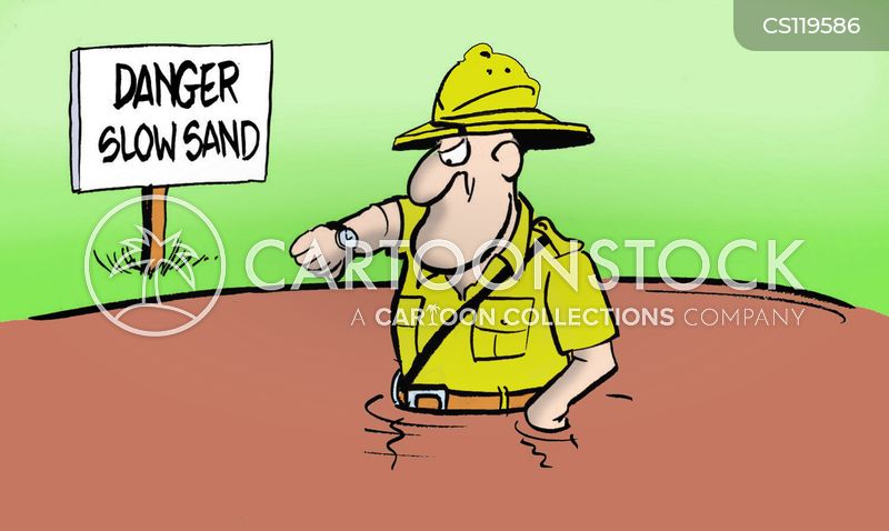 sinking sand cartoon