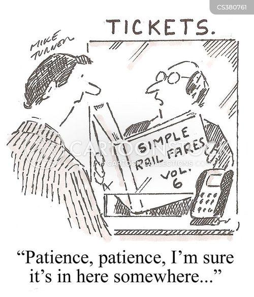train ticket cartoon