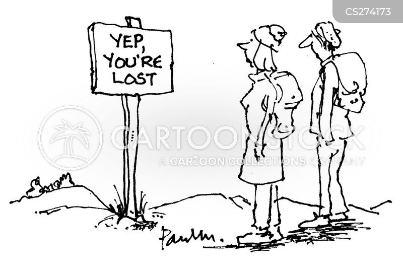 public footpaths cartoon