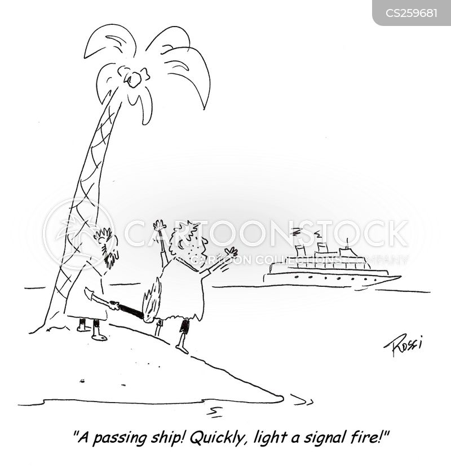 passing ship cartoon