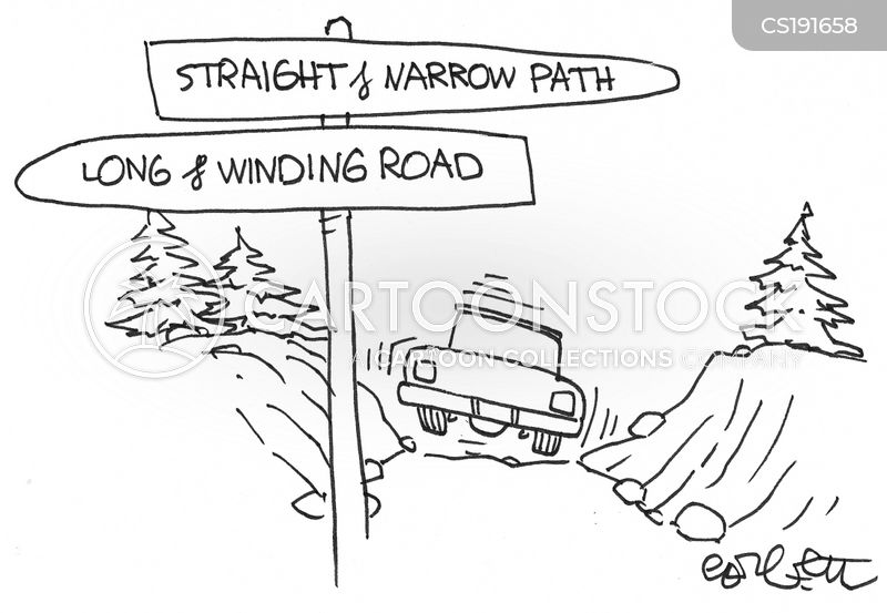 route cartoon