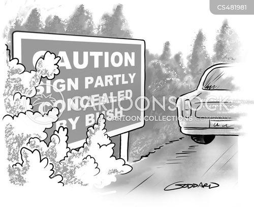 road-sign cartoon
