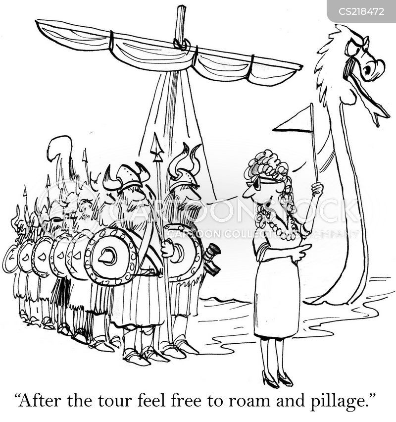 viking ships cartoon