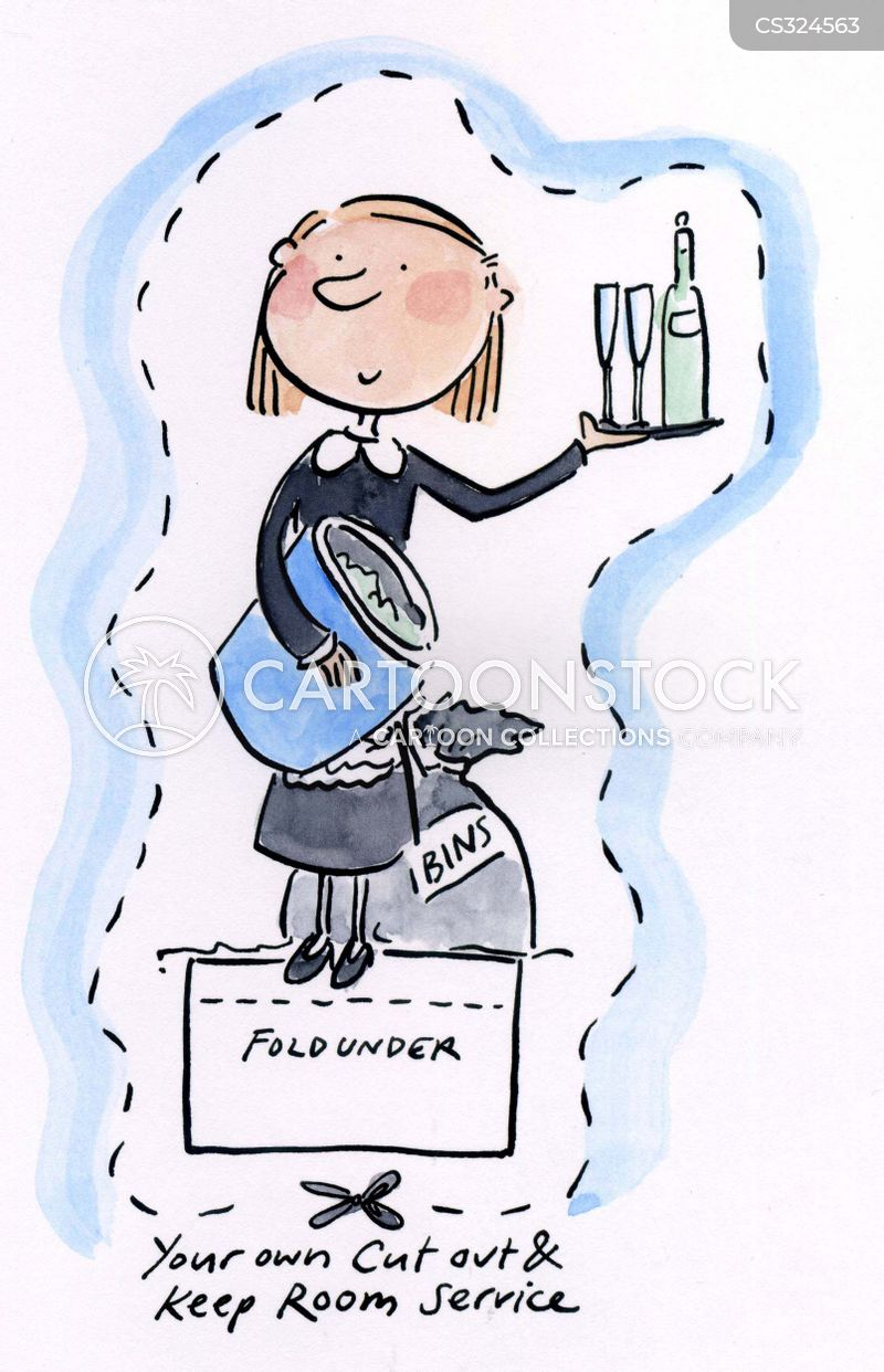 chambermaid cartoon