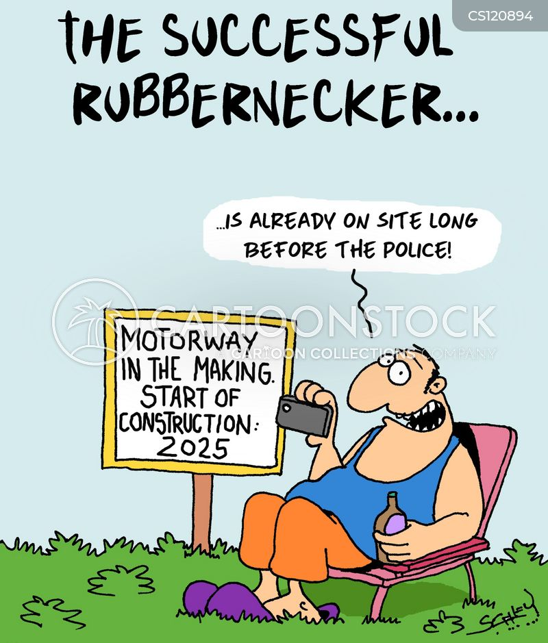 rubberneckers cartoon