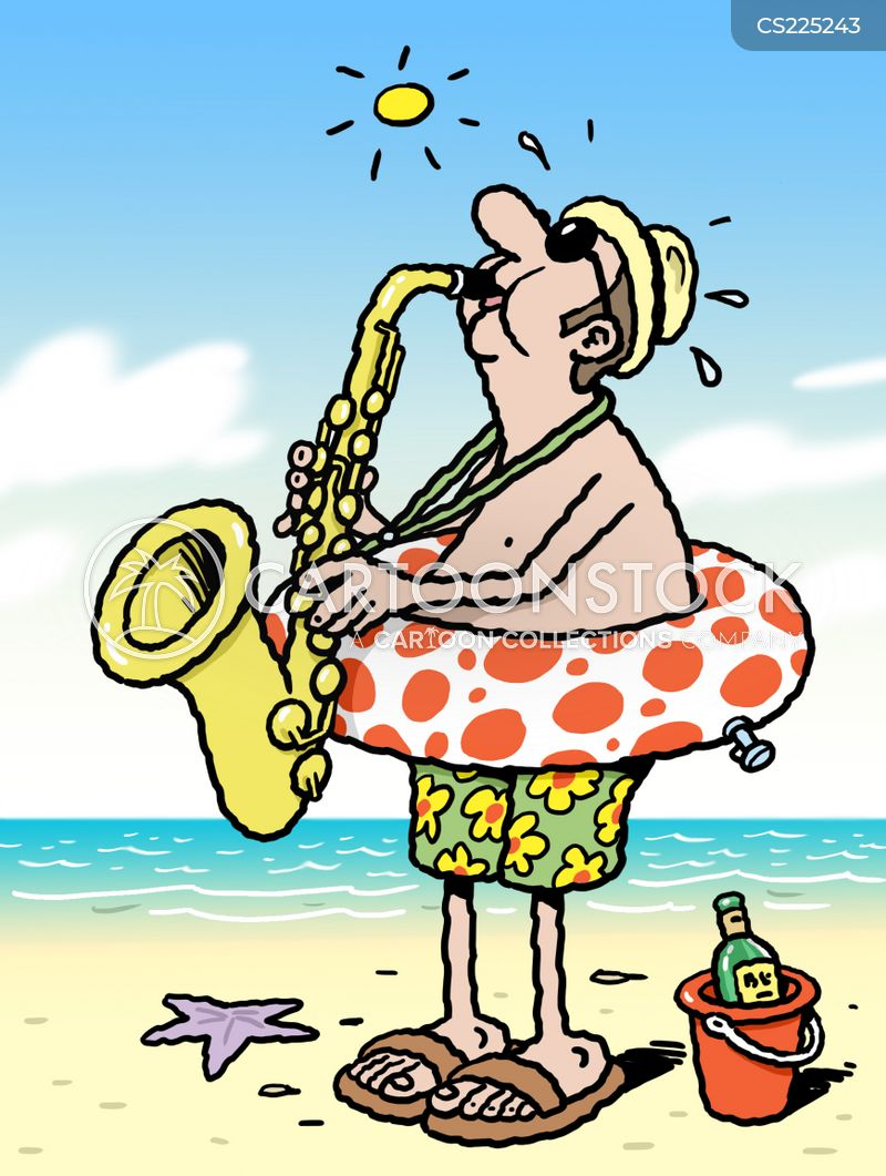 saxaphone cartoon