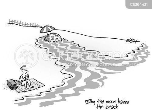 lunar cycles cartoon