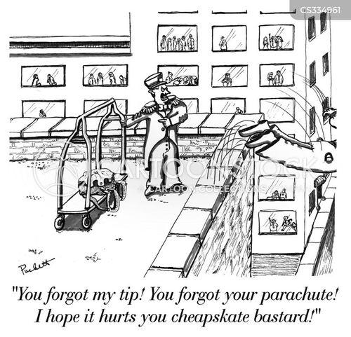 bellhop cartoon