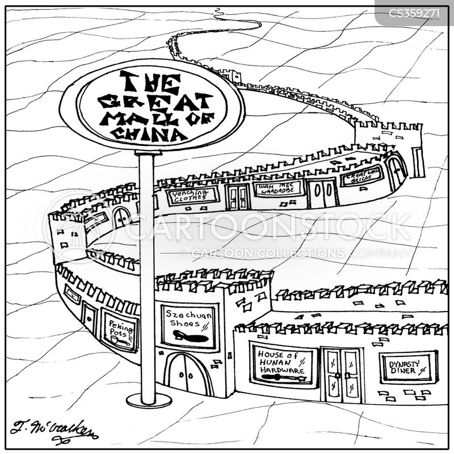 historic landmarks cartoon