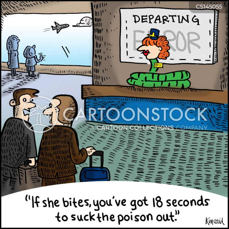 check in cartoon