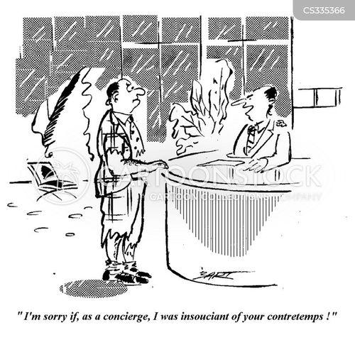 concierges cartoon