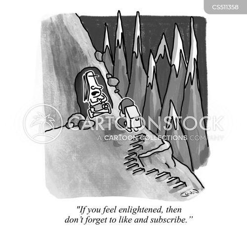 seeking enlightenment cartoon