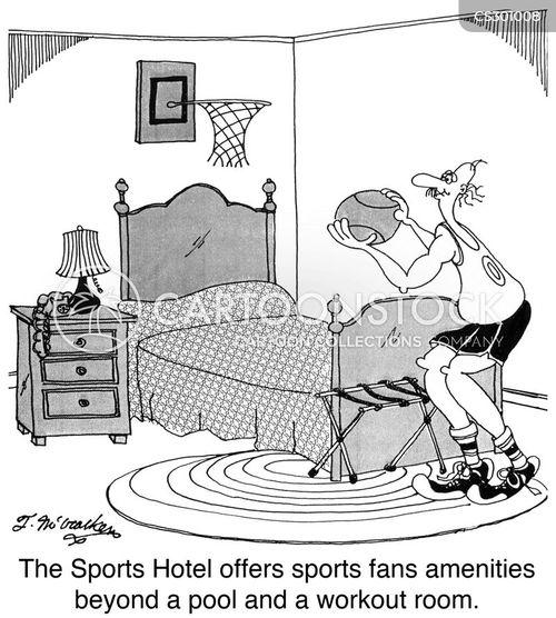 basketball fans cartoon