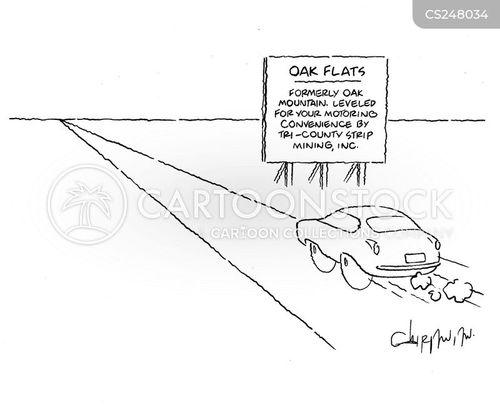 strip mining cartoon
