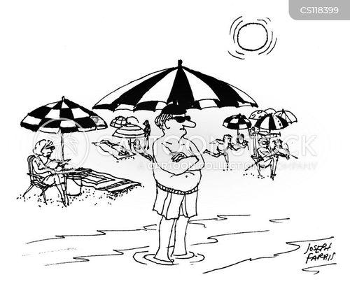 sun umbrella cartoon