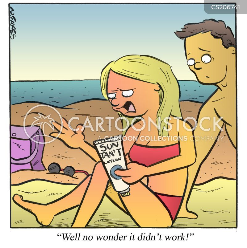 sun lotions cartoon