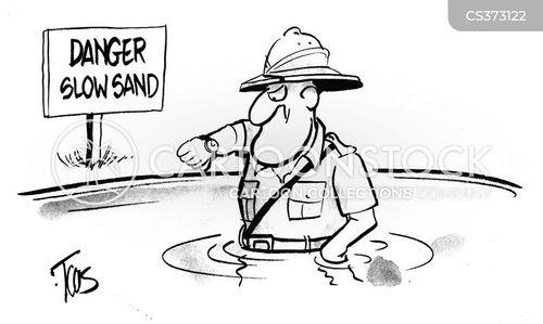 sinking sands cartoon