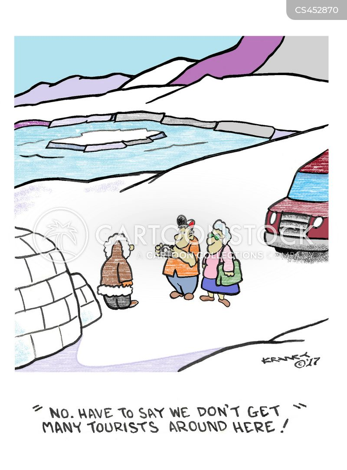 tourist spots cartoon