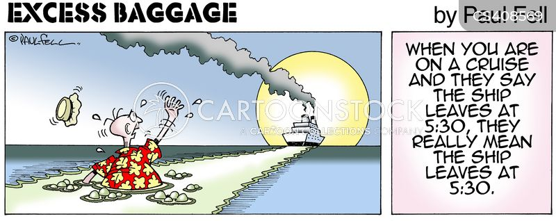 Cruise Boat Cartoons And Comics Funny Pictures From Cartoonstock