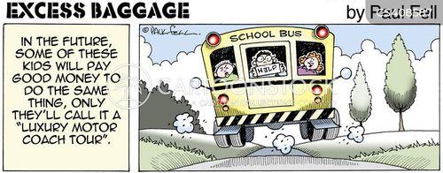 school trip cartoon