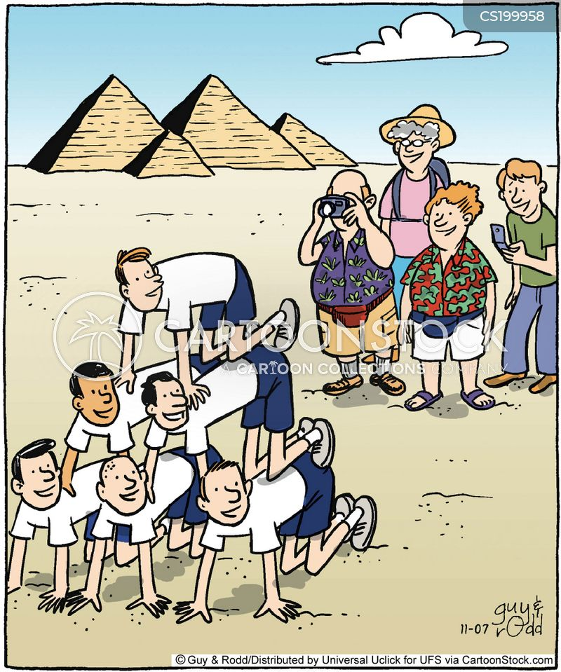 tourist destinations cartoon