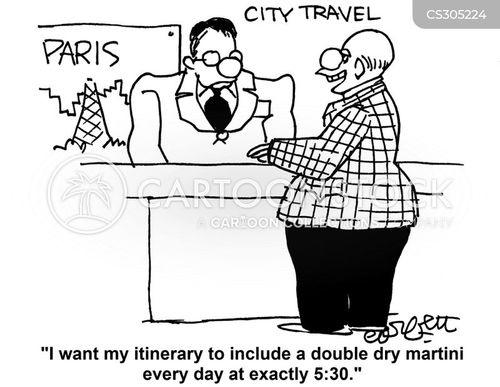 itinerary cartoon