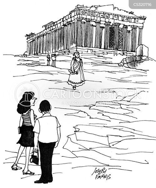 old buildings cartoon
